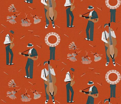 Jazz Men fabric by mirjamauno on Spoonflower - custom fabric