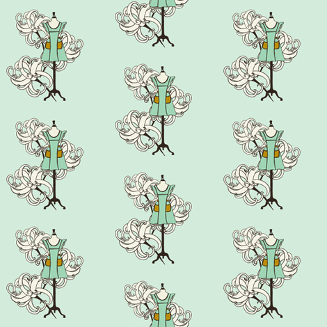 Vintage Apron with three flowers fabric by carrie_narducci on Spoonflower - custom fabric