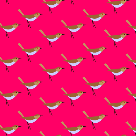 Chasin' the bird fabric by moirarae on Spoonflower - custom fabric