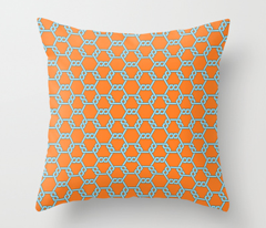 Pastel Blue-Orange Freeman Lattice