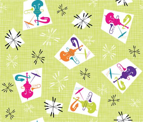 Julie's Jazzing MOD fabric by juliesfabrics on Spoonflower - custom fabric