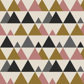 Little Mountains - Gold Pink