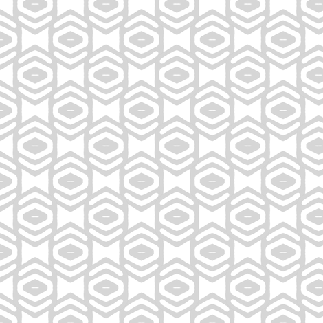 Modern Geometric Ogee in Gray fabric by joanmclemore on Spoonflower - custom fabric