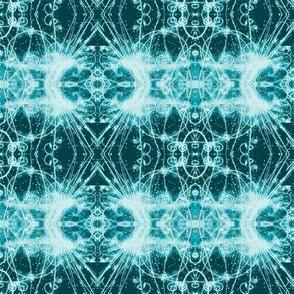 Steampunk Subatomic Particle Tracks in aquas