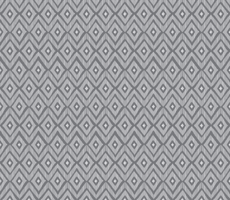 Ikat grey and white fabric by fat_bird_designs on Spoonflower - custom fabric