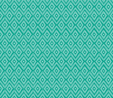 Ikat teal & white fabric by fat_bird_designs on Spoonflower - custom fabric