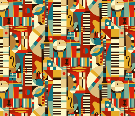 Jazz Fusion fabric by celiaforrester on Spoonflower - custom fabric