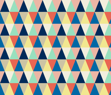 triangles quilt fabric by amybethunephotography on Spoonflower - custom fabric