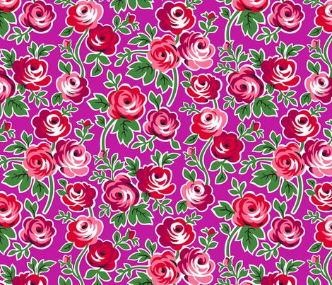 Matryoshka Large Floral fabric by minimiel on Spoonflower - custom fabric