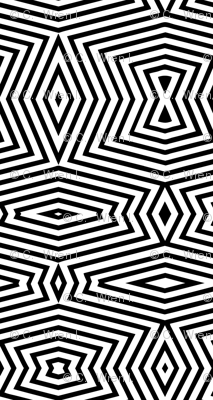 black white geometric uber large