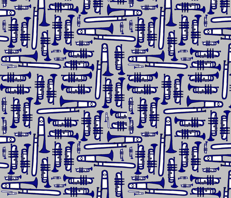 Toot Your Horn fabric by clairekalinadesigns on Spoonflower - custom fabric