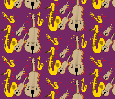Jazz Fever fabric by ecolindy on Spoonflower - custom fabric