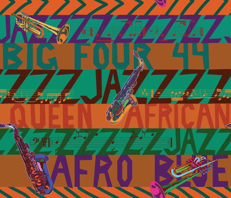 Jazz fabric by relk on Spoonflower - custom fabric