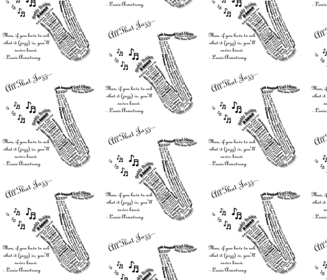 All that Jazz fabric by pitapoggidesigns on Spoonflower - custom fabric