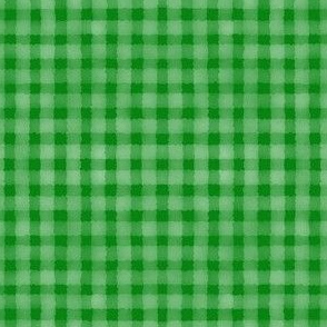 Watercolour Gingham Green