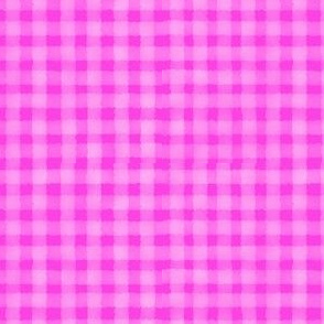 Watercolour Gingham Pink