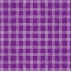 Watercolour Gingham Purple