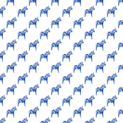 Dala Horse in Blue, Wider