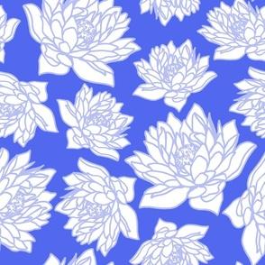 WATERLILLY IN CORNFLOWER BLUE