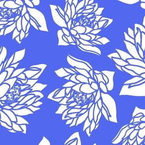 WATERLILLY CORNFLOWER BLUE LARGE