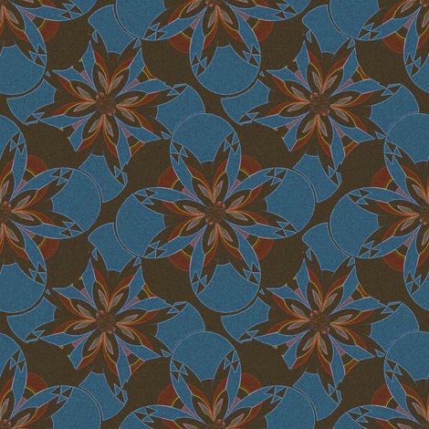 Sand Painting Flower fabric by eclectic_house on Spoonflower - custom fabric