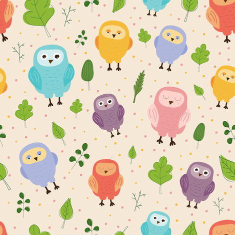 owls fabric by berrycat on Spoonflower - custom fabric