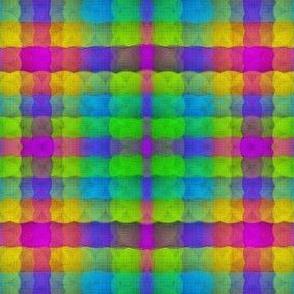 Puffy Rainbow Plaid