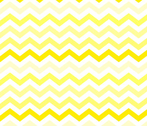Ombre Yellow Chevron fabric by kq1225 on Spoonflower - custom fabric