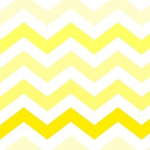 Ombre Yellow Chevron