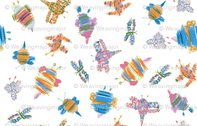 Bubbie-bugs in Butterfly colors