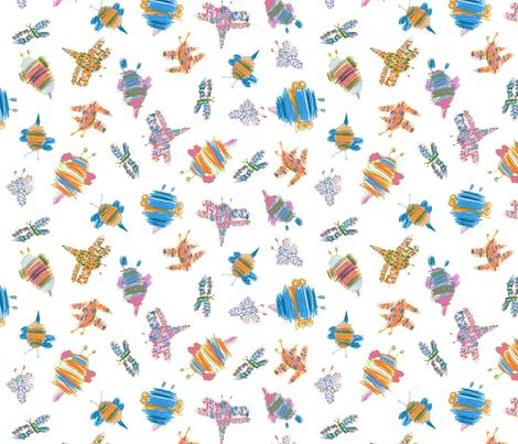 Bubbie-bugs in Butterfly colors fabric by weavingmajor on Spoonflower - custom fabric