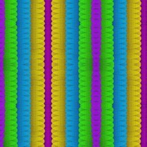 Puffy Rainbow Stripes