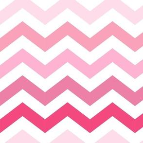 Ombre Pink Chevron