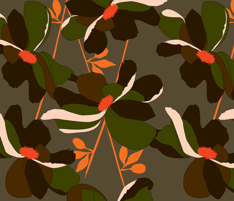 CAMO LILY fabric by elizabethgrubaugh on Spoonflower - custom fabric