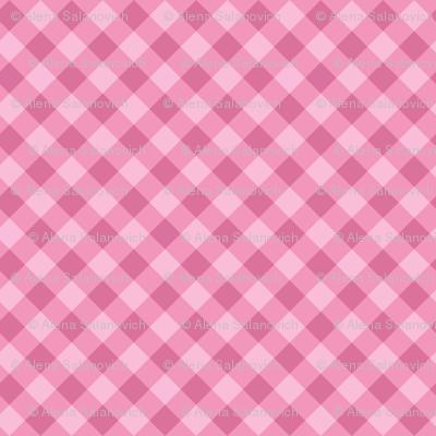 Pink cross check pattern