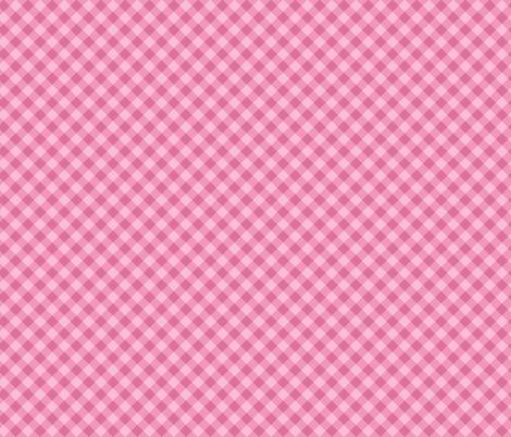 Pink cross check pattern fabric by alenkas on Spoonflower - custom fabric