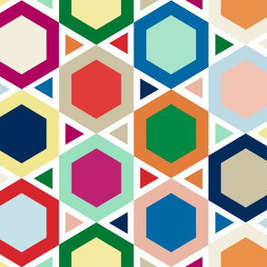 triangles + hexagons