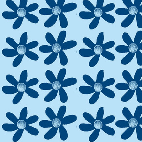 large blue flowers onpale blue background-ch-ch-ch