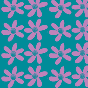 large purple flowers on green/blue background-ch-ch-ch-ch-ch-ch-ch