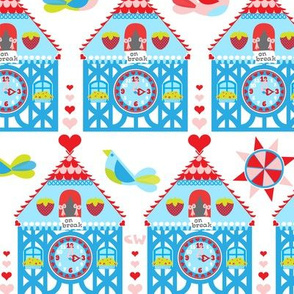 Cuckoo Clocks (White)
