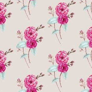 Roses, Watercolor in Bold Magenta