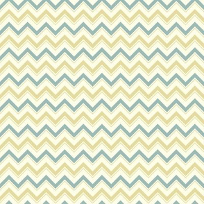 Turquoise and Gold Chevron