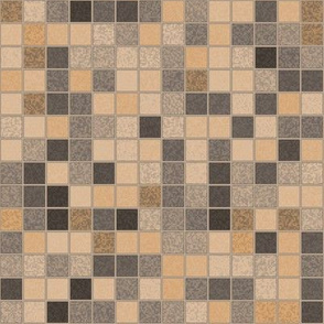 Beige Brown Gray Tile Mosaic © Gingezel™