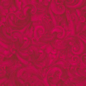 Engrave Swirls 5 Red