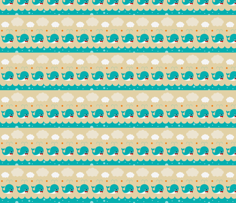 Whale Squirts fabric by emandsprout on Spoonflower - custom fabric