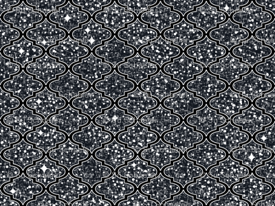 Desert stars in a Moroccan quatrefoil, LARGE repeat, by Su_G