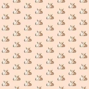 Bunnies in Love, Soft Pink Beige