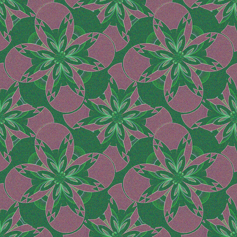 Sand Painting Flower 4 fabric by eclectic_house on Spoonflower - custom fabric
