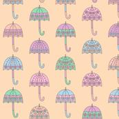 Rainy Day Umbrellas design in pastel colors V7