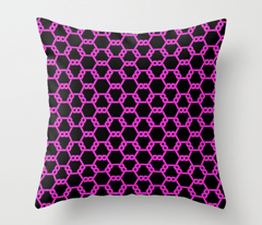 Hot Pink Freeman Lattice on Black